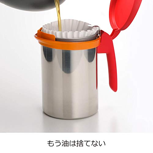 オークス日本製ウチクック油ろ過ポットブラックUCS1BK