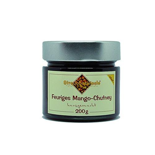 Streuobstwiesle Feuriges Mango Chutney - 200 g - Herzhafte, aromatische Sauce zum Grillen, zum Fondue, zum Raclette, zum Kase, zum Reis...