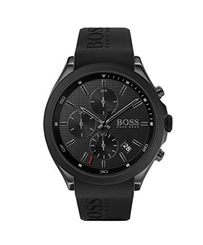 Hugo Boss Herren Analog Quarz Uhr mit Silikon Armband 1513720