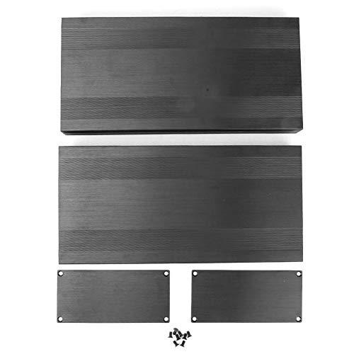 Caredy Aluminium Elektronische Projektbox DIY Schwarz Aluminium Gehäuse Gehäuse Gebürstet Schwarz Oxid Split Typ Aluminium Kühlgehäuse oder Verstärker GPS(300mm)