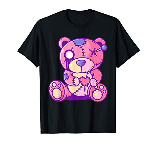 Pastel Goth Teddy Bear Japanese Anime Kawaii Menhera T-Shirt