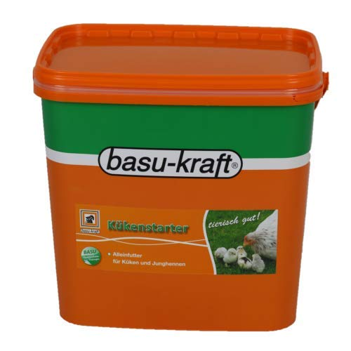BASU Kükenstarter 7 kg pelletiert - Alleinfuttermittel für Küken ab dem 1. Lebenstag - Geflügel Hühner Küken Futter Kükenmehl Hühnerfutter