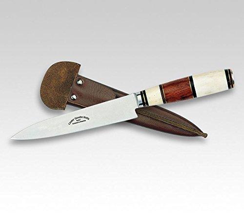Linder Gaucho-Messer, 420-Stahl, Palisander/Knochen, 14 cm