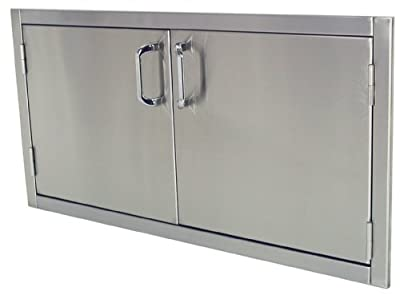Solaire 42-Inch Flush Mount Access Doors, Stainless Steel