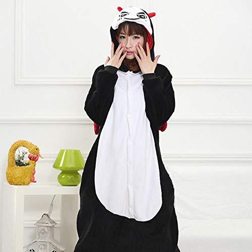 MA Pijama Black Devil Kigurumi Onesies Unisex Sleepsuit Pijamas para Adultos Disfraces de Cosplay Mono Animal para Hombre-Negro_Metro