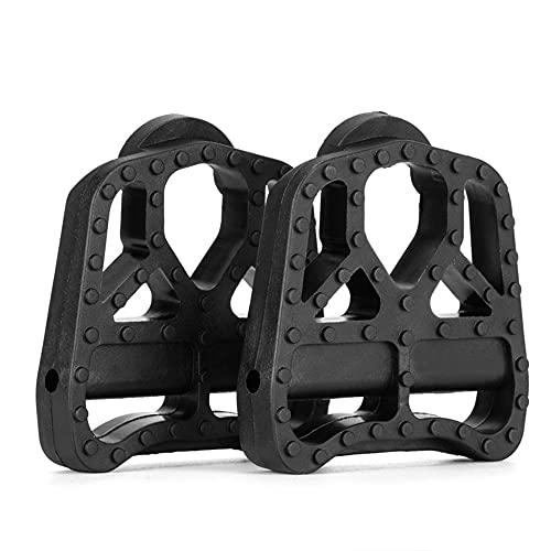Mimoke Adaptador suave antideslizante para pedales compatibles con Shimano SPD -SL/Look Keo No es necesario tacos, convierte los pedales automáticos en pedales planos (Look Keo).