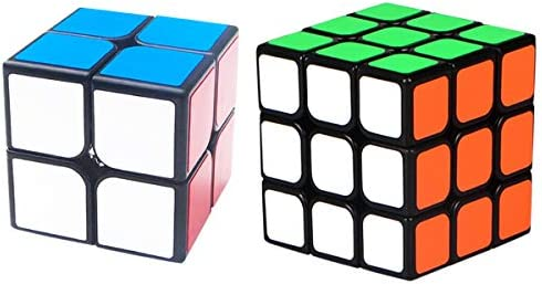 Rubix Cube Set 2 Pack 2x2 3x3 Speed Cube 3D Puzzle Educational Brain Teasers Toys for Kids Adults product image