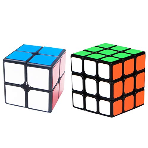 Rubix Cube Set 2 Pack 2x2 3x3 Speed Cube 3D Puzzle Educational Brain Teasers Toys for Kids & Adults, Pack of 2