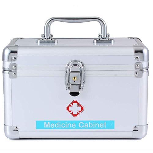 First Aid Kit Abschließbarer 2-lagiger Erste-Hilfe-Koffer Erste-Hilfe-Koffer Robuster Aluminiumrahmen Erste-Hilfe-Koffer Vorratsbehälter Notfallkoffer Überlebenskoffer