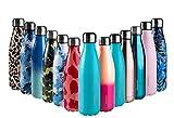 Arcosteel Bottiglia di Acqua 500ml, Borraccia Termica Sportiva Termos in Acciaio Inox Isolamento Sottovuoto a Doppia Parete | 24 Ore Freddo | 12 Ore Caldo, Privo di BPA, Menta Opaca
