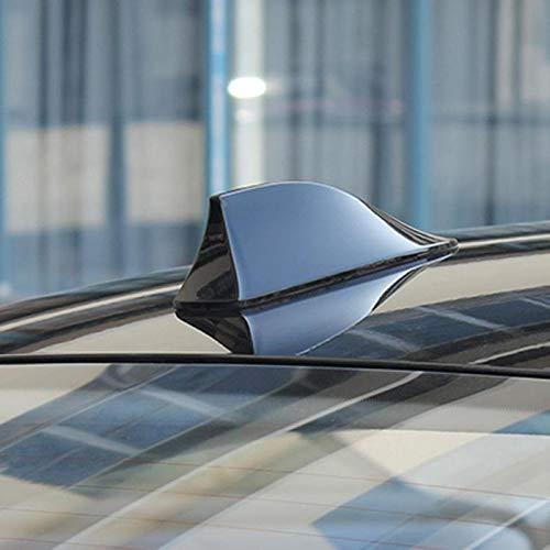 Antena Aleta Coche automático de antena de aleta de tiburón antena de radio FM Antenas de señal for VW Polo Ford Kuga Chevrolet Cruze Nissan Qashqai Peugeot Cualquier Departamento ( Color : Black )