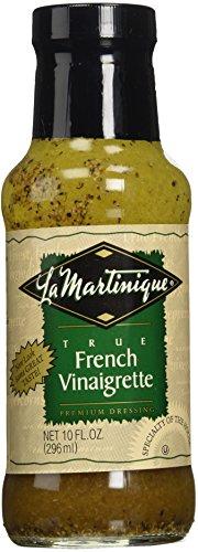 LA MARTINIQUE True French Vinaigrette Dressing 10oz (Pack of 6 Bottles)