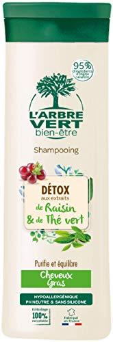 L'arbre vert Shampooing Détox pour Cheveux Gras 250 ml
