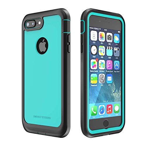 iPhone 7 Plus/iPhone 8 Plus Case, ImpactStrong Ultra Protective Case with Built-in Clear Screen Protector Full Body Cover for iPhone 7 Plus/iPhone 8 Plus (Ocean Blue)