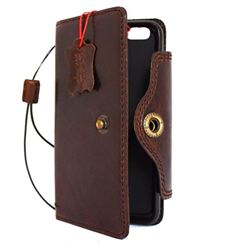 Genuine Vintage Leather Case for iPhone 6s Plus Book Wallet Handmade Retro with Strap Luxury 6 S Il DavisCase