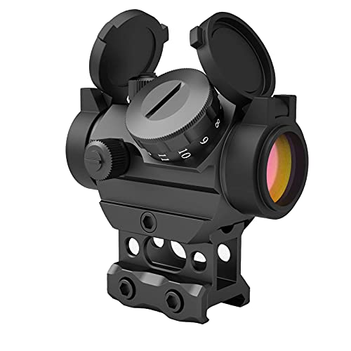 Aimsniper Red dot Sight Hunting Gun Reflex Sights Rifle Scope with Flip Up Scope Covers and 1 Inch 20mm Riser Mount