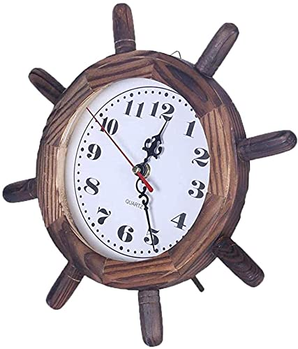 LXDZXY Reloj Despertador Barco Volante de Pesca Red Colgando Pared Reloj de Pared decoración de Dormitorio