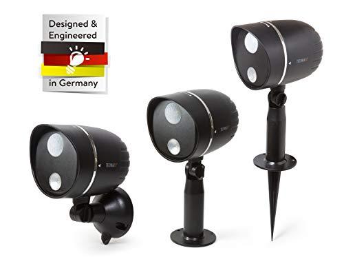 Technaxx Led-buitenlamp TX-107 batterij-aangedreven LED-lamp met PIR-bewegingsdetectie voor tuin, terras etc.