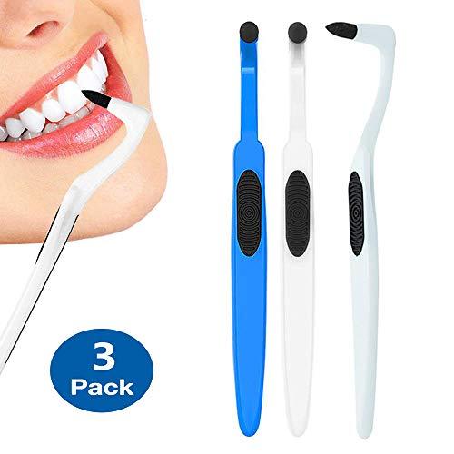 Zahnsteinentferner,Isend Zahnsteinentfernung Professionelle Zahnreinigung-Effektive Zahnarztbesteck Teeth Whitening Zahnpolierer,3 Stück (White-Blue)
