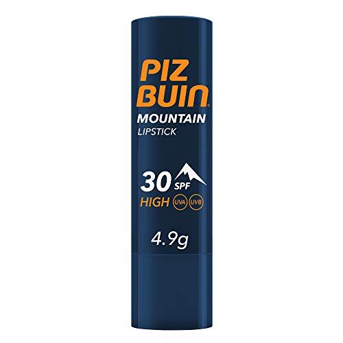 PIZ BUIN, Stick Labbra Montagna, Protezione Alta 30 SPF, Filtro Solare UVA/UVB, Mountain Lipstick, 4.9gr