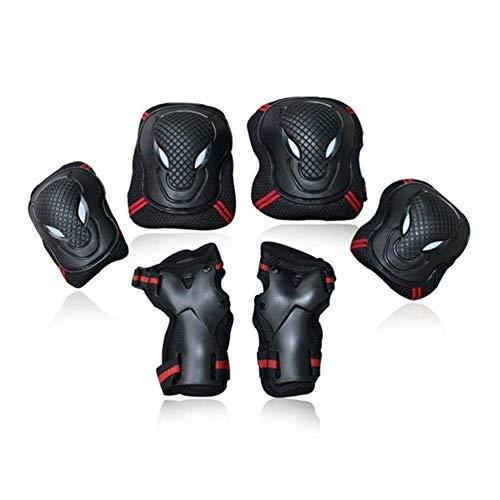 HGWZLQ 6 unids/Set Deportes de Seguridad Conjunto Rodilleras Codos Protectores de muñeca Kneecap Rodilleras para Scooter Ciclismo Patinaje sobre Ruedas esquí Guardia