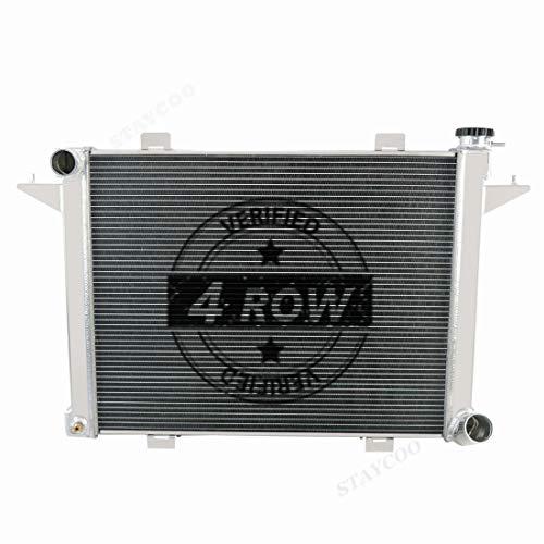 STAYCOO 62MM 4 Row Core Aluminum Radiator for 1991-1993 Dodge D250 D350 W250 W350 5.9L Diesel Turbo Cummins丨1990-91 Ramcharger 5.2 5.9