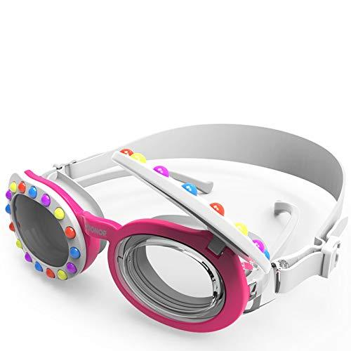 ZIONOR K5 - Gafas de natación para niños, 2 en 1, antivaho, protección UV, correa ajustable, sin fugas, diseño de visión ancha, para niños y niñas, edad 4, 5, 6, 7, 8, 9, 10, 11, 12 años