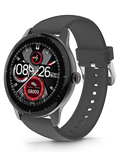 DOOGEE CR1 Smartwatch, Reloj Inteligente Impermeable IP68 para Hombre Mujer Niños con Pulsómetro, Monitor de Sueño, 1.28 Inch Reloj Deportivo 13 Modos para Android iOS, 30 Días en Espera, Gris