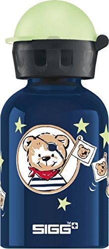 Sigg Little Pirates Cantimplora Infantil (0.3 L), Botella para niños sin sustancias nocivas y con Tapa hermética, cantimplora Ligera de Aluminio
