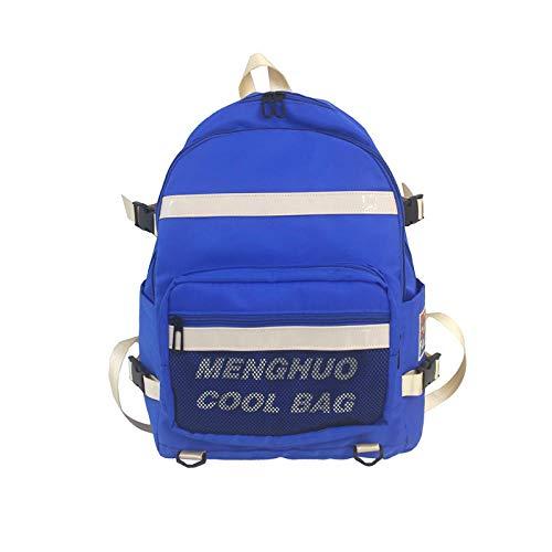 Rucksäcke Nylon Mesh Taschenrucksack einfache Brief Männer und Frauen Haushalt Rucksack-blau Schultaschen,Wanderrucksäcke,Rucksäcke für Radsport,Rucksäcke, Taschen ,Trekkingrucksacke für, Laptop-Ruck