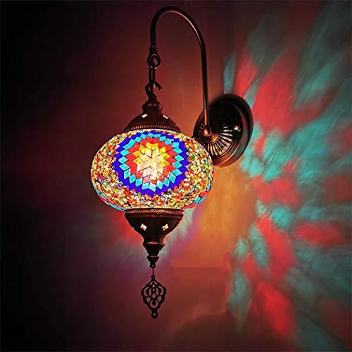 Wandlampen, arabische Mosaik Wandleuchten, Marokkanische Glas Laterne Wand Beleuchtungskörper, Türkisch Wandleuchten für Flur,A