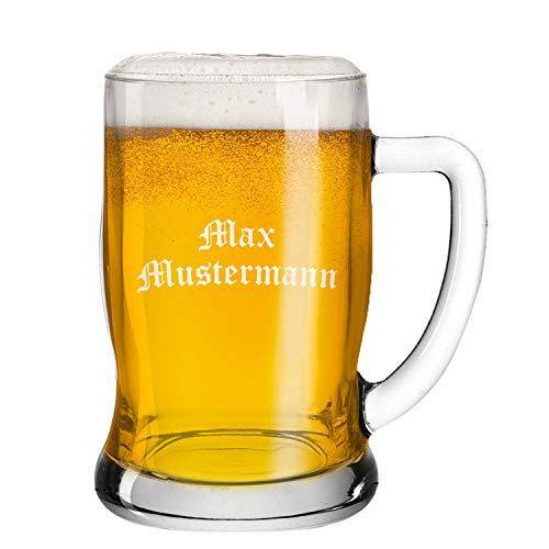 Deitert Leonardo Bierseidel 0,5l Taverna – Bierkrug mit Henkel und individueller Namensgravur, Leonardo Gläser mit Teqton Qualität