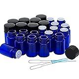24 pack 2 ml 5/8 Dram Glass Bottles Mini...