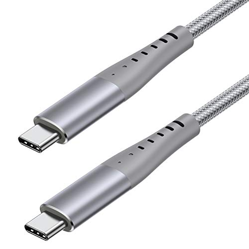 USB C to USB C Cable 6FT [100W 20V 5A] Type C 3.1 Gen 2 10Gbps 4K Video and PD Cable Compatible with MacBook Pro Air, iPad Pro 2020, Huawei, Chromebook, Pixel, Switch and More Type-C Devices/Laptops