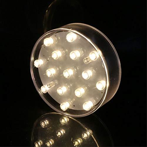 LACGO Lampe de base en acrylique pour vase, 10 cm, ronde, 15 LED blanc chaud, alimentation USB/piles, pour la maison, présentation, centre de table (boîtier transparent)