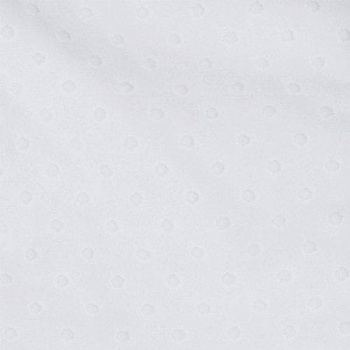 RED CASTLE Couverture Ouatinée 80*70 Pois&Velours, Blanc Neige