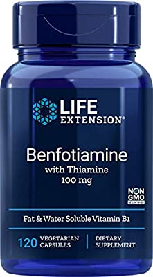 Life Extension Benfotiamine with Thiamine Capsule, 120-Count from Life Extension