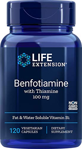 Life Extension Benfotiamine with Thiamine, 100mg, 120 vcaps 0737870920120