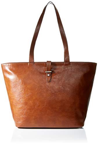 edc by Esprit Accessoires Damen Tavi Shopper Schultertasche, Braun (Rust Brown), 14x30x30,5 cm