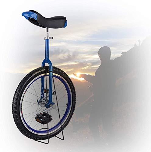 L&WB Kinder-Einrad, 16/18/20/24 Zoll Rahmen rutschfeste Butyl Mountain Reifen Balance Radsportübung Radsport Im Freien Einfach Zu Montieren,Blau,16 inch