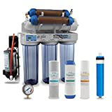 Max Water 6 Stage Reef Aquarium Reverse Osmosis System/Reverse Osmosis System/RO Water Filtration System/RO Water Purifier RODI System + HM Inline TDS Meter 200 GPD with Booster Pump