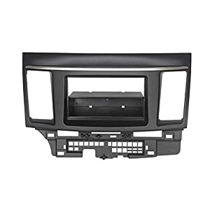 Yanjianhon Mascherina per autoradio a doppio DIN per Mitsubishi Lancer Fortis Radio DVD Stereo Panel Dash Montaggio Trim Kit Face Frame