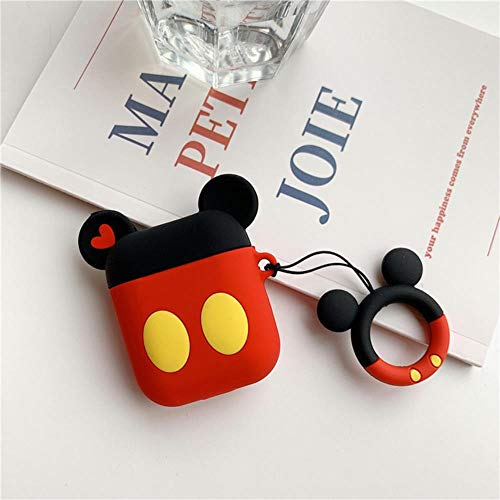 3D Cute Cartoon Mickey Mouse Minnie Earphone Cover For Apple For Airpods Pro 3 Cases Soft Silicone Air Pods 2 1 Anime Funda Keychain,For Airpods1 2