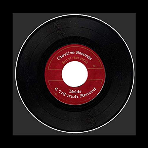 Creative Picture Frames 45 Single LP Vinyl Record Frame with Black Mat Displays 6 7/8-inch Record with Installed Hanger for Wall Display