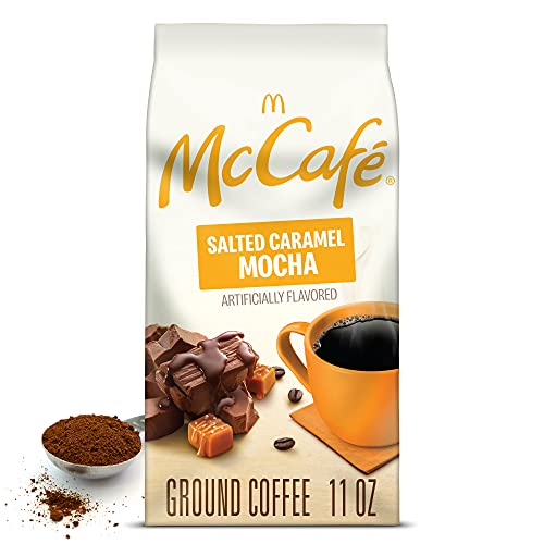 McCafe Salted Caramel Mocha, Ground Coffee, Flavored, 11oz. Bagged