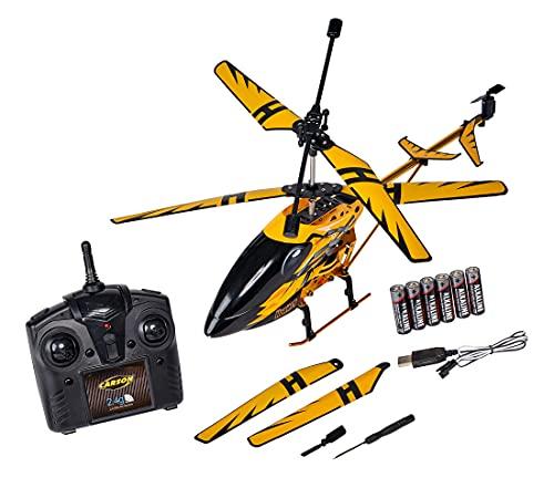 Carson 500507139 Easy Tyrann Hornet 350 2.4 GHz – Ferngesteuerter Helikopter, Robustes RTF (Ready to Fly) Modell für Einsteiger, inklusive Batterien, für Kinder ab 12 Jahren, gelb