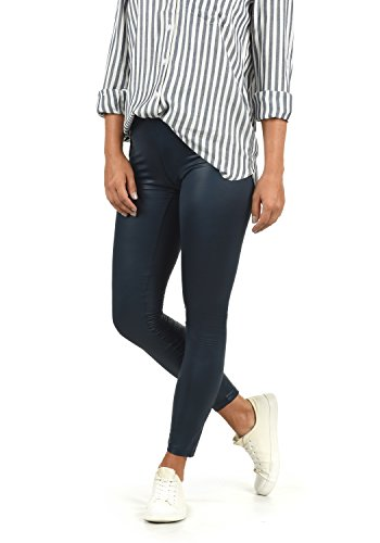 VERO MODA Paris Damen Leggings Hose Kunstleder Mit Stretchanteil Skinny Fit, Größe:M, Farbe:Navy Blazer