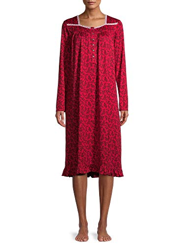 Secret Treasure Red Long Sleeve Gown with Black Leaf Design (M 8-10) Secret T...  via @amazon