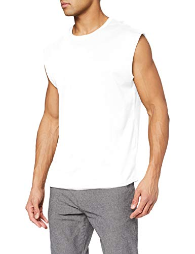Urban Classics Open Edge Sleeveless tee Camiseta, Blanco (White 00220), M para Hombre