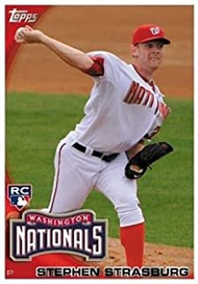 2010 Topps Baseball Card #661 Stephen Strasburg RC - Washington Nationals (Rookie Card - Phenom) HOBBY FACTORY SET VERSION